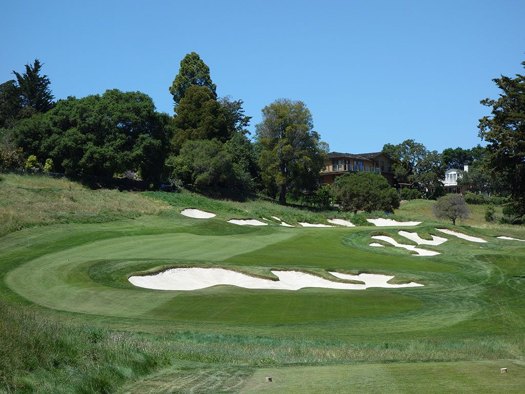 3rd Hole at Pasatiempo Golf Club (214 Yard Par 3)