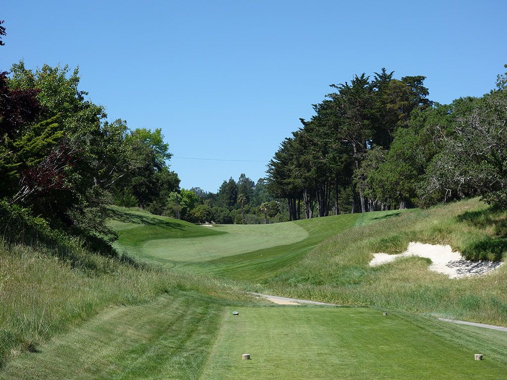 6th Hole at Pasatiempo Golf Club (567 Yard Par 5)