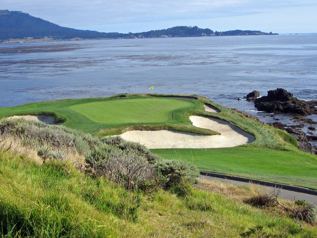 The world famous 7th hole at Pebble Beach; amazingly, this hole was not apart of the original routing at Pebble