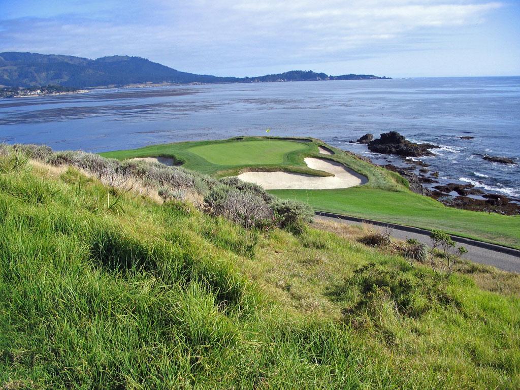 7th Hole At Pebble Beach Golf Links 109 Yard Par 3