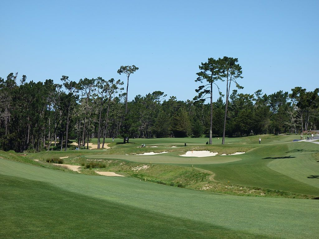 18th Hole at Poppy Hills Golf Course (519 Yard Par 5)