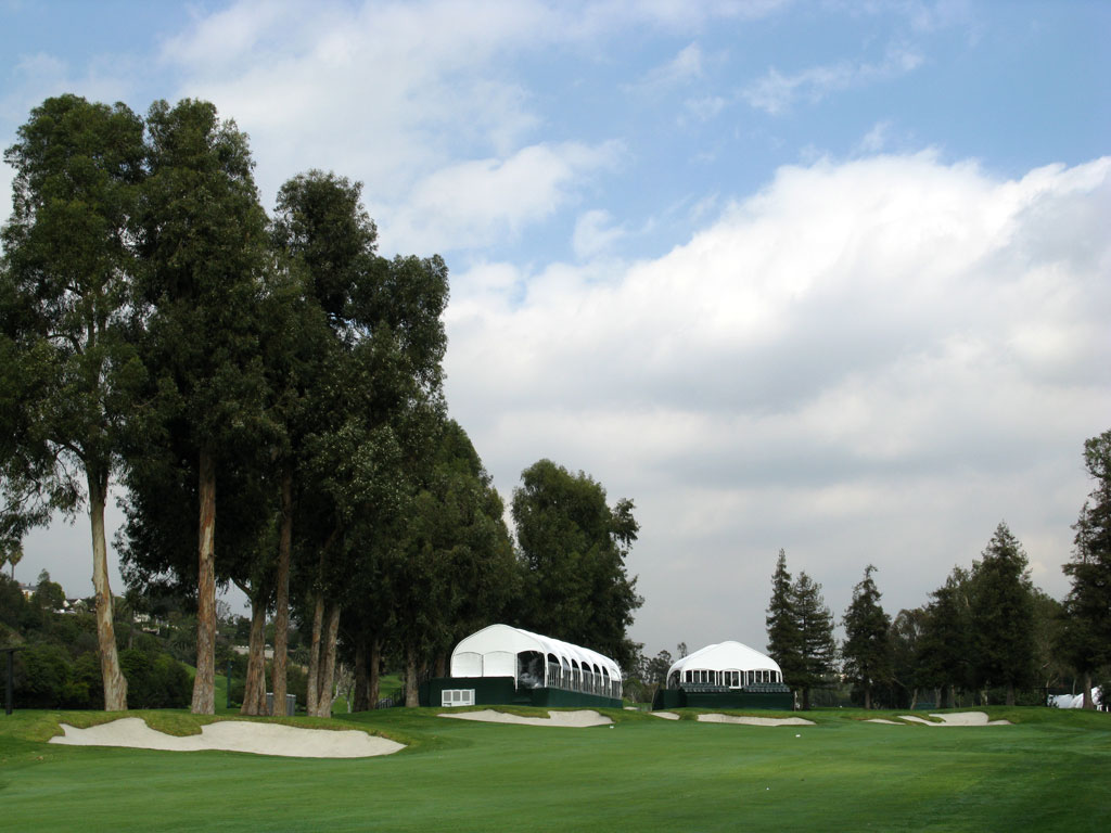 17th Hole at Riviera Country Club (576 Yard Par 5)