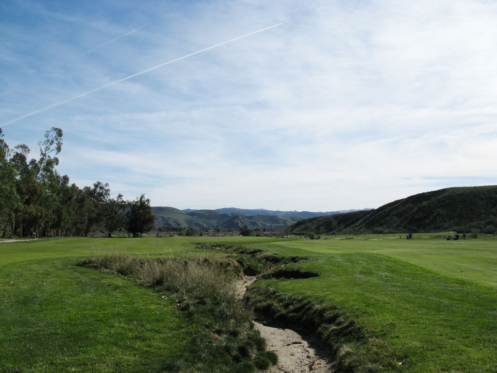 1st Hole at Rustic Canyon Golf Course (540 Yard Par 5)