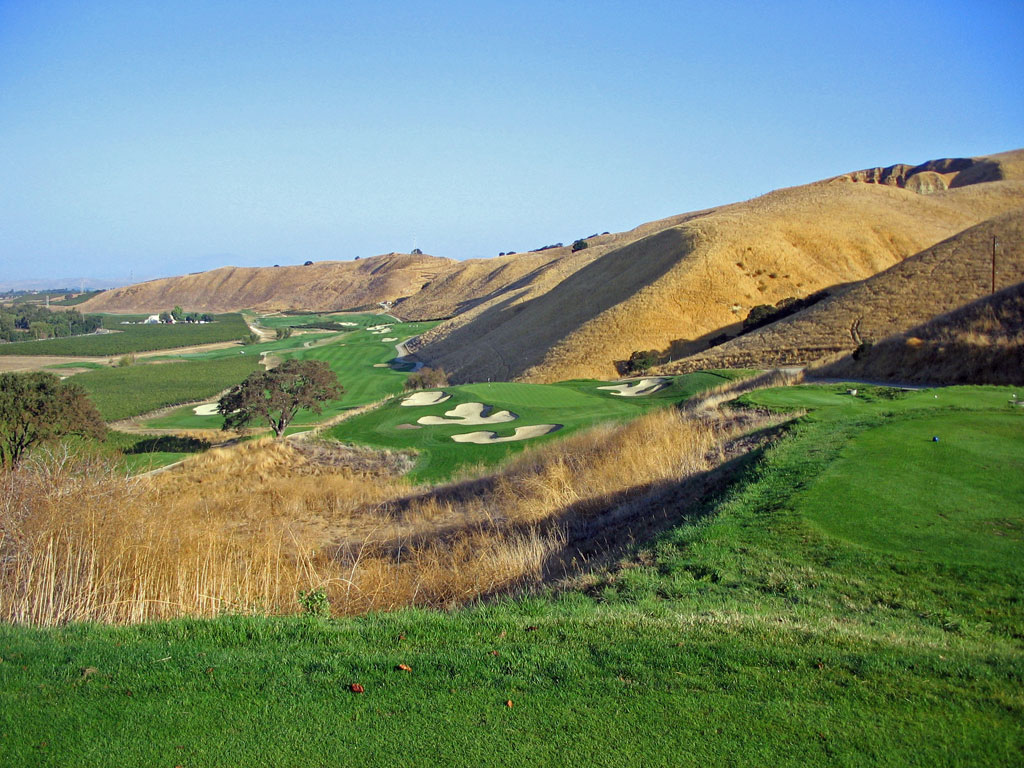7th Hole at The Course at Wente Vineyards (228 Yard Par 3)