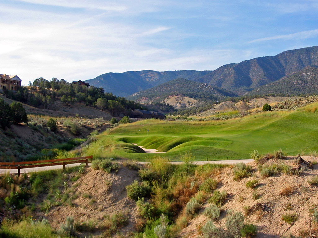 16th Hole at Lakota Canyon Ranch Golf Club (418 Yard Par 4)
