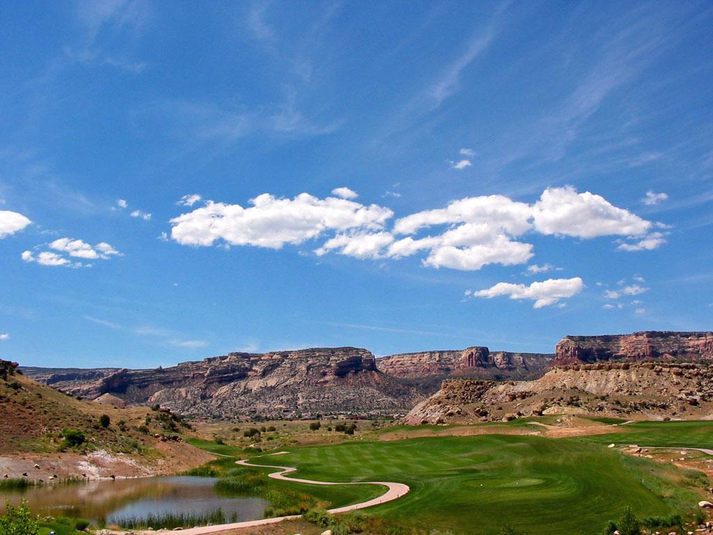 16th Hole at Redlands Mesa Golf Club (412 Yard Par )