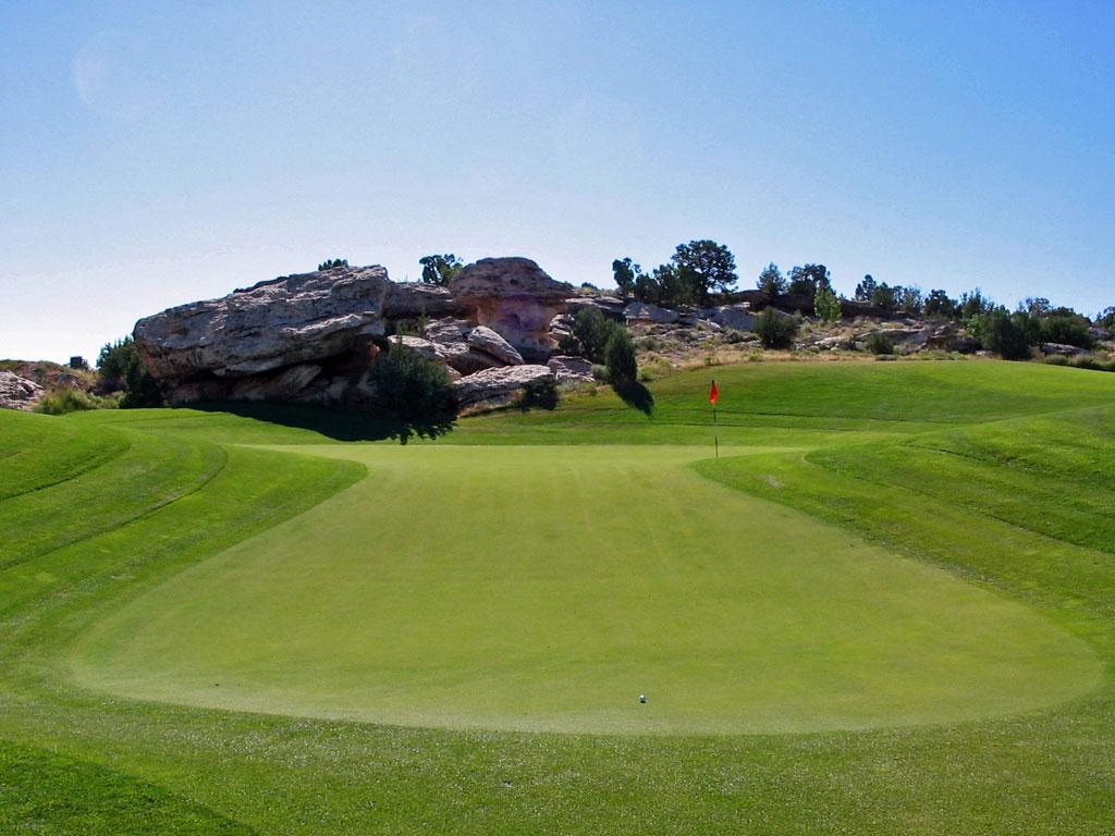 5th Hole at Redlands Mesa Golf Club (575 Yard Par 5)