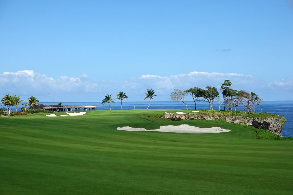 4th Hole at Playa Grande Golf & Ocean Club (576 Yard Par 5)