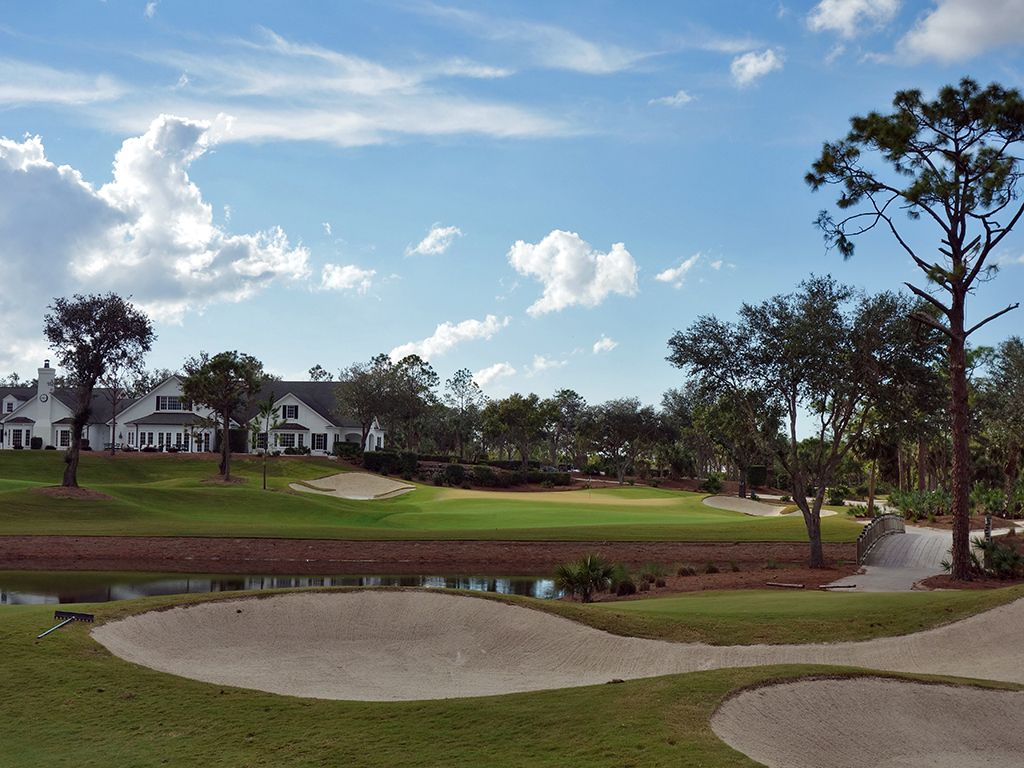9th Hole at Calusa Pines Golf Club (459 Yard Par 4)