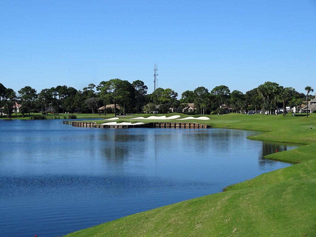 West 6th Hole at Sawgrass Country Club (South/West) (204 Yard Par 3)