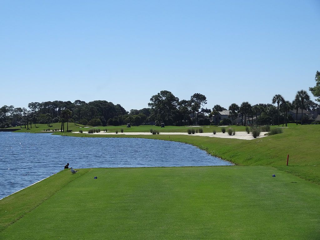 West 9th Hole at Sawgrass Country Club (South/West) (515 Yard Par 5)