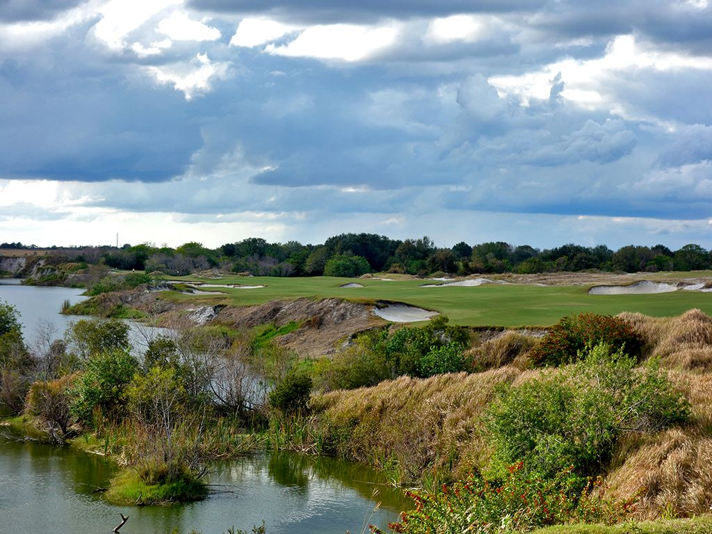 7th Hole at Streamsong Resort (Red) (527 Yard Par 5)