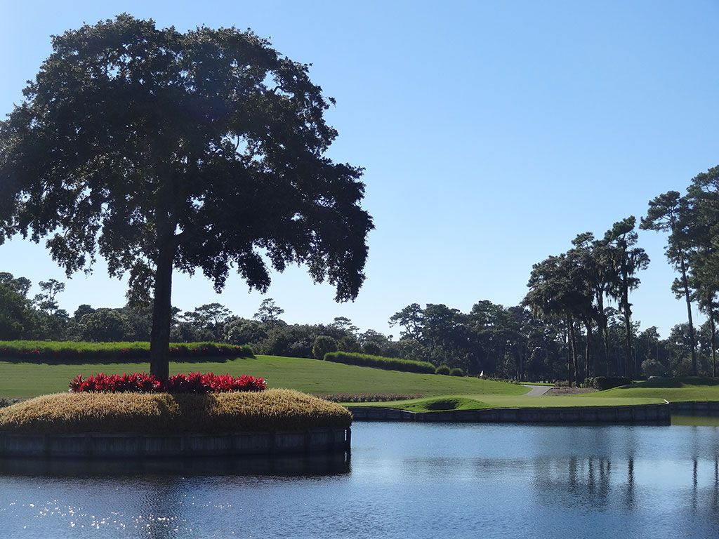 17th Hole at TPC Sawgrass (Stadium Players) (137 Yard Par 3)