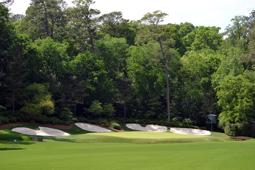 The reachable par five 13th hole at Augusta