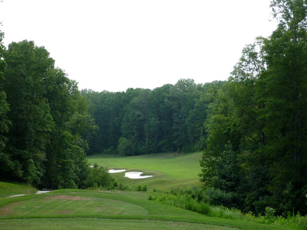 17th Hole at Cherokee Run Country Club (531 Yard Par 5)