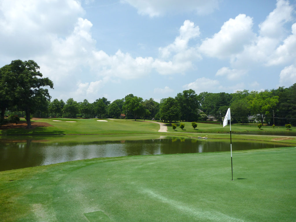 17th Hole at East Lake Golf Club (455 Yard Par 4)