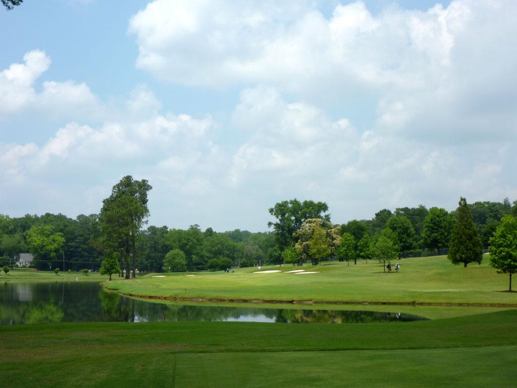 17th Hole at East Lake Golf Club (455 Yard Par 4)