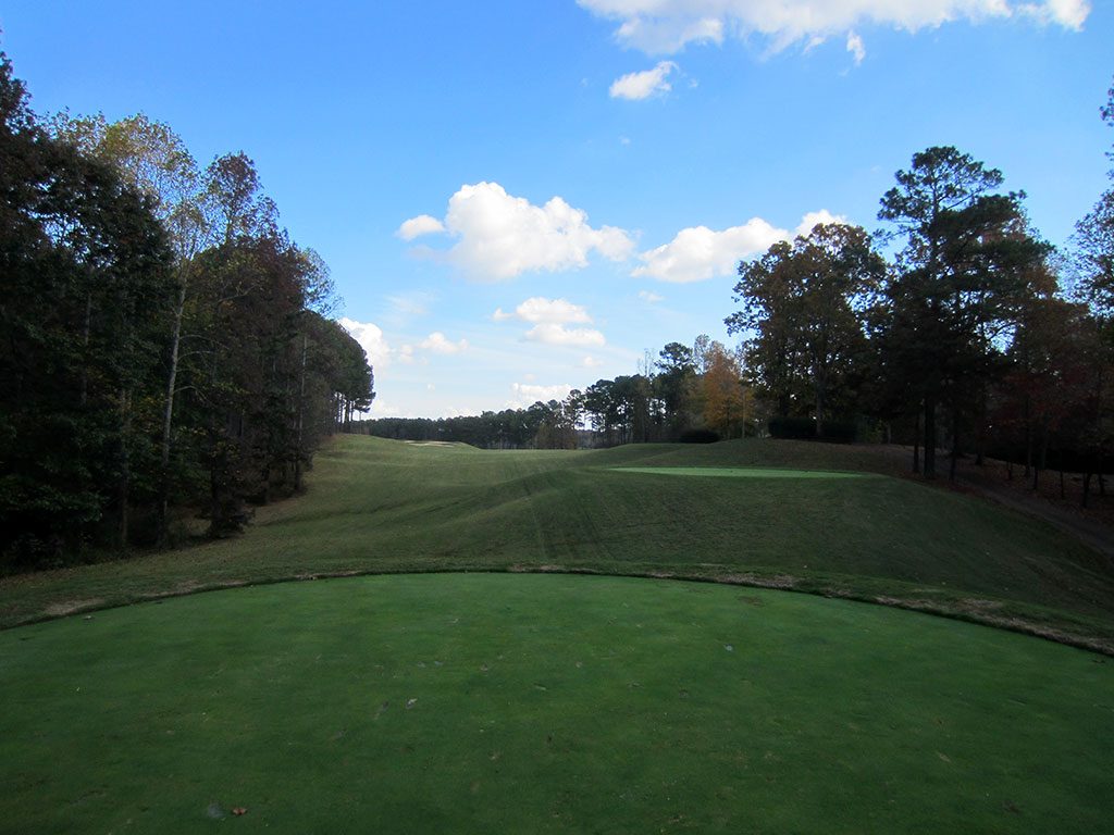 4th Hole at Hawks Ridge Golf Club (573 Yard Par 5)