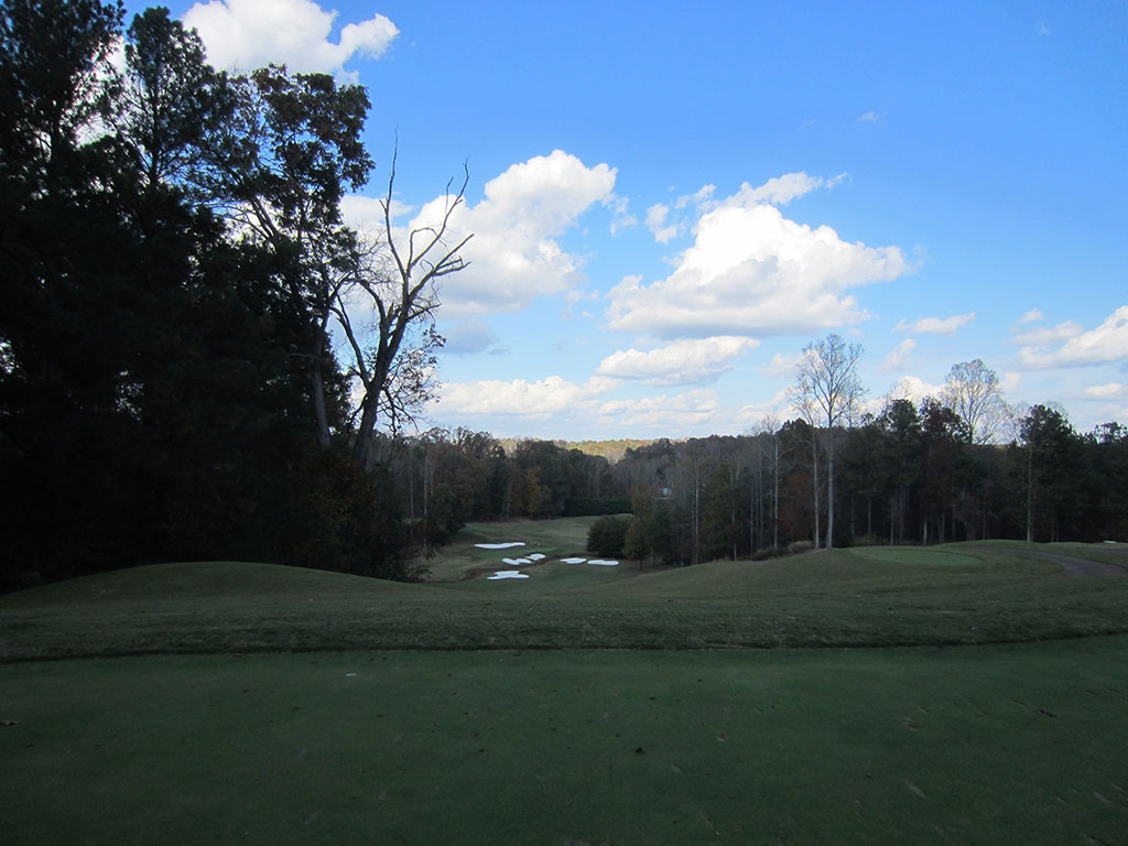 6th Hole at Hawks Ridge Golf Club (319 Yard Par 4)
