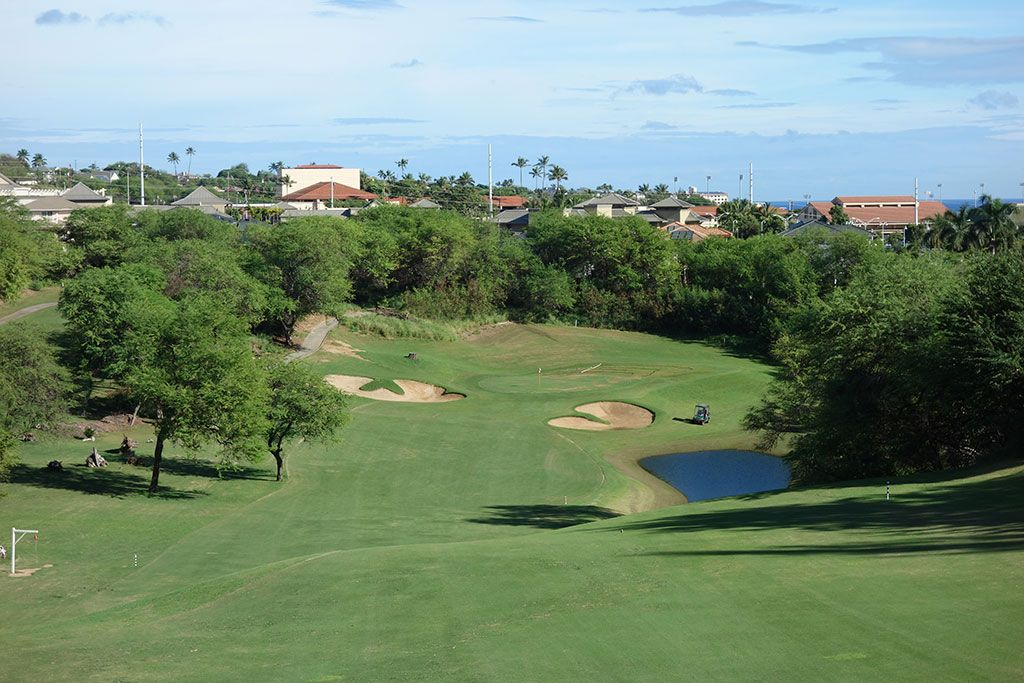 10th Hole at The Dunes at Maui Lani (474 Yard Par 4)