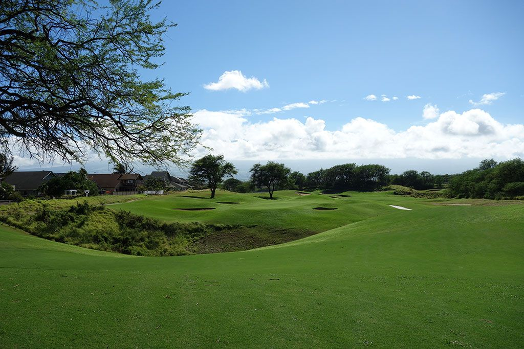 15th Hole at The Dunes at Maui Lani (428 Yard Par 4)