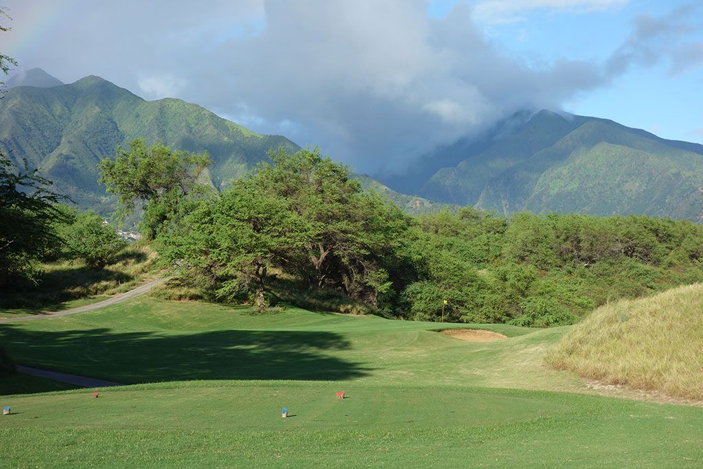 3rd Hole at The Dunes at Maui Lani (145 Yard Par 3)