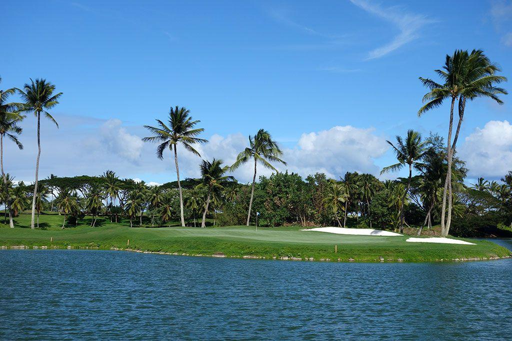 18th Hole at Hokuala, The Ocean Course at (459 Yard Par 4)