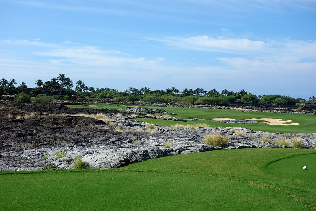 16th Hole at Hualalai Golf Club (Ke'olu) (347 Yard Par 4)