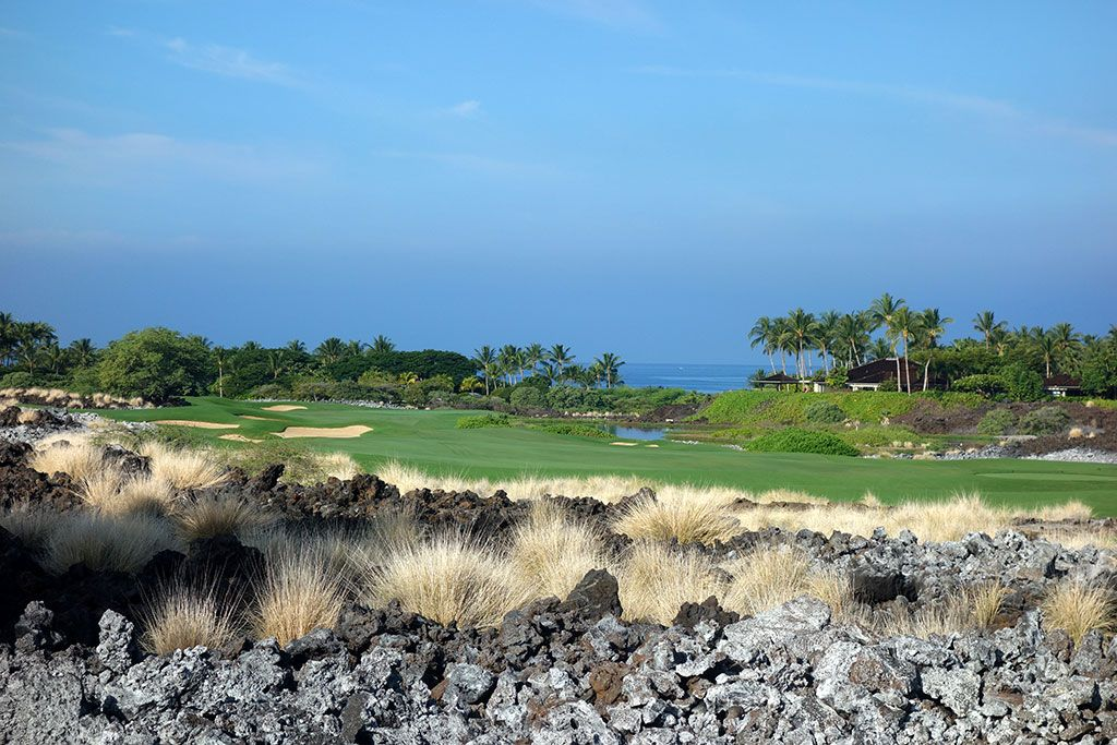 5th Hole at Hualalai Golf Club (Ke'olu) (528 Yard Par 5)