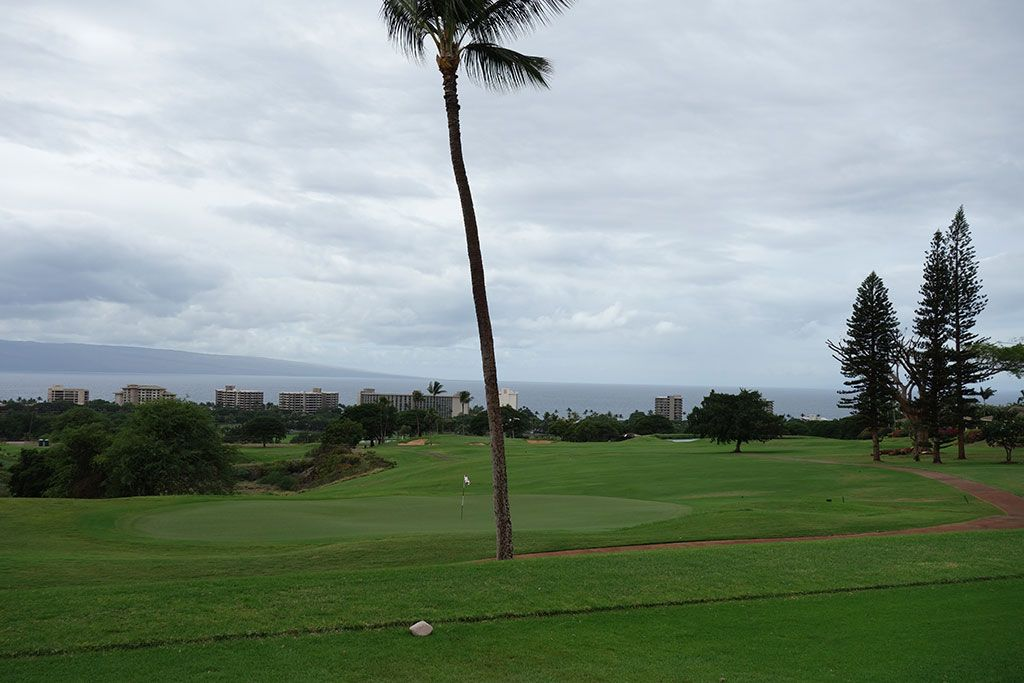 7th Hole at Ka'anapali Kai Golf Course (395 Yard Par 4)