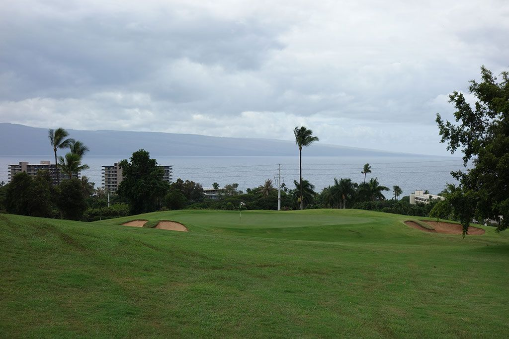 9th Hole at Ka'anapali Kai Golf Course (373 Yard Par 4)