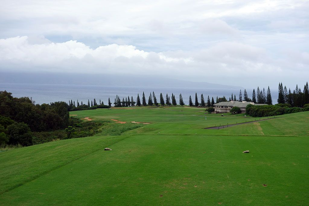 18th Hole at Kapalua Plantation (663 Yard Par 5)
