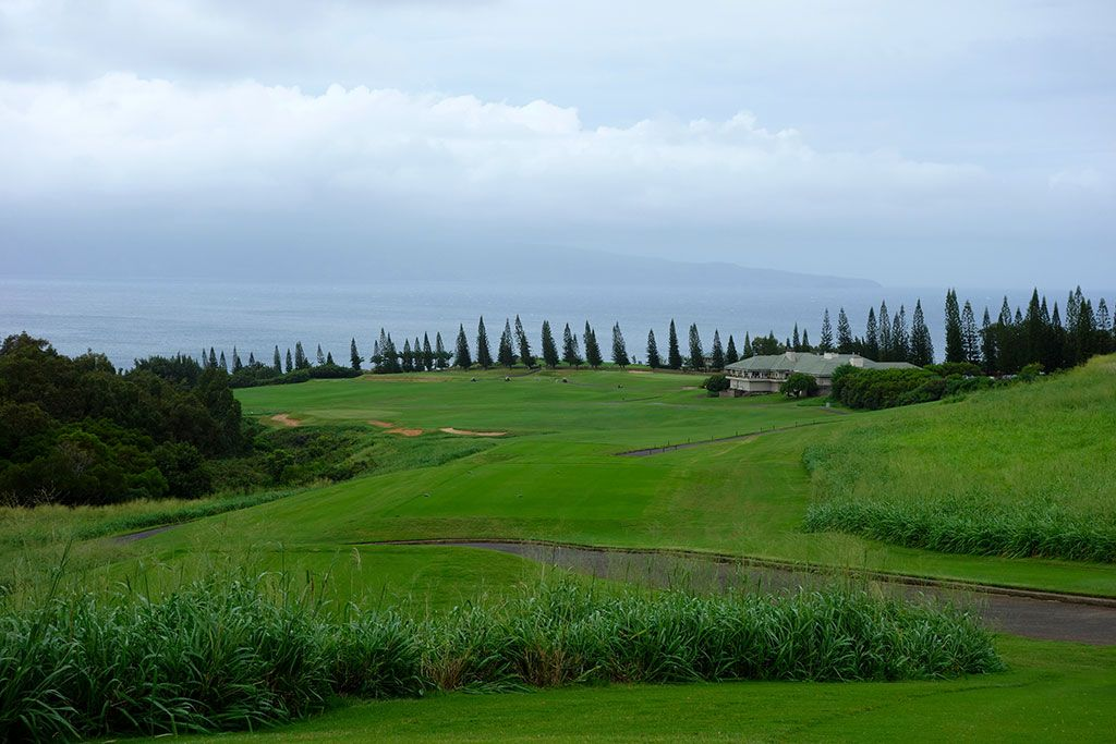 18th hole at Kapalua Resort (Plantation) (Maui, HI)