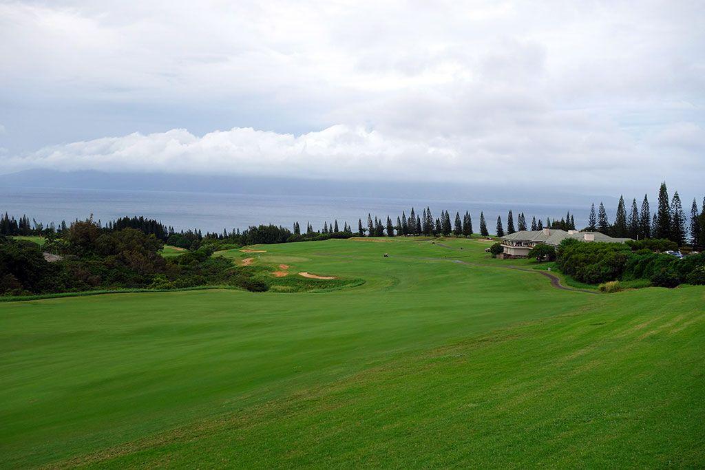 18th Hole at Kapalua Resort (Plantation) (663 Yard Par 5)