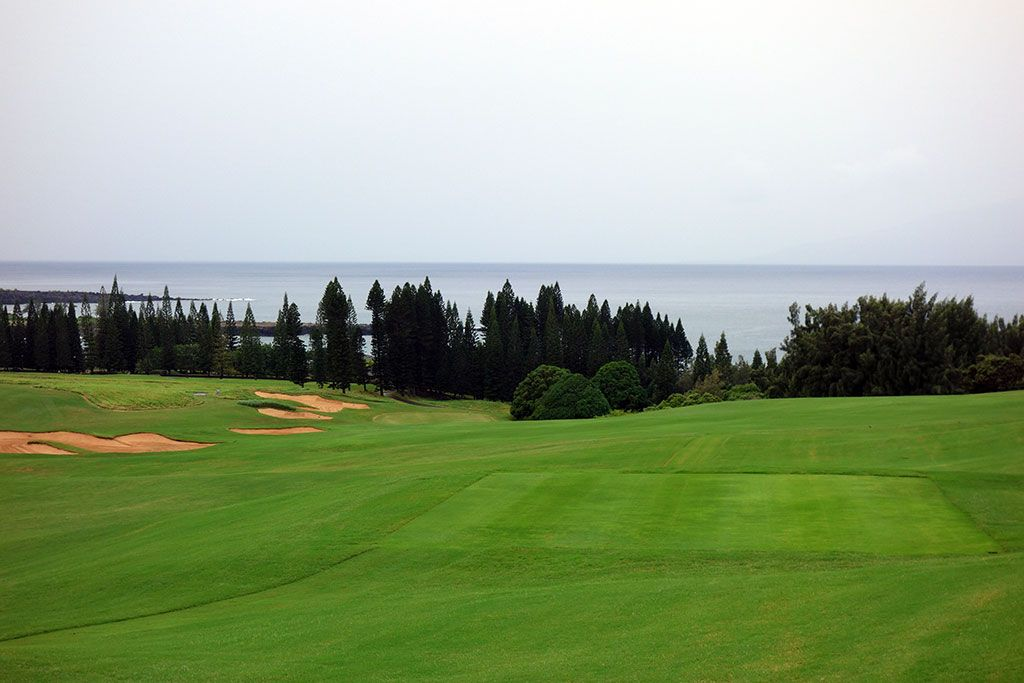 1st Hole at Kapalua Plantation (520 Yard Par 4)