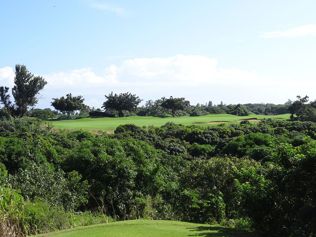 6th Hole at Hokuala Resort (Ocean) (519 Yard Par 5)