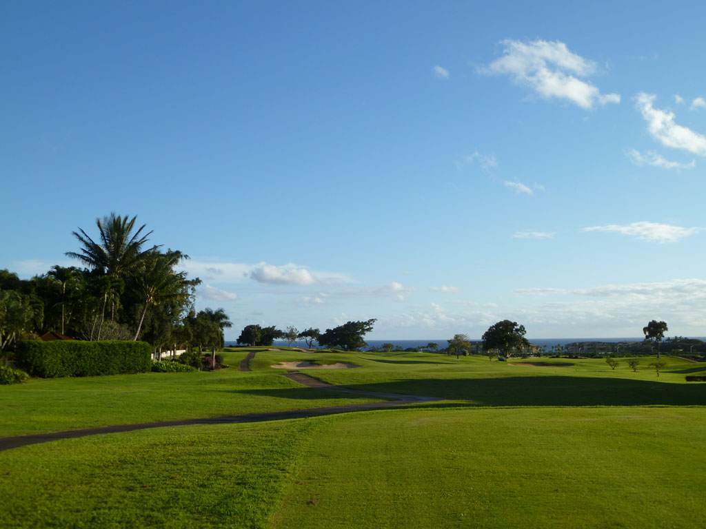 17th Hole at Kiahuna (476 Yard Par 4)