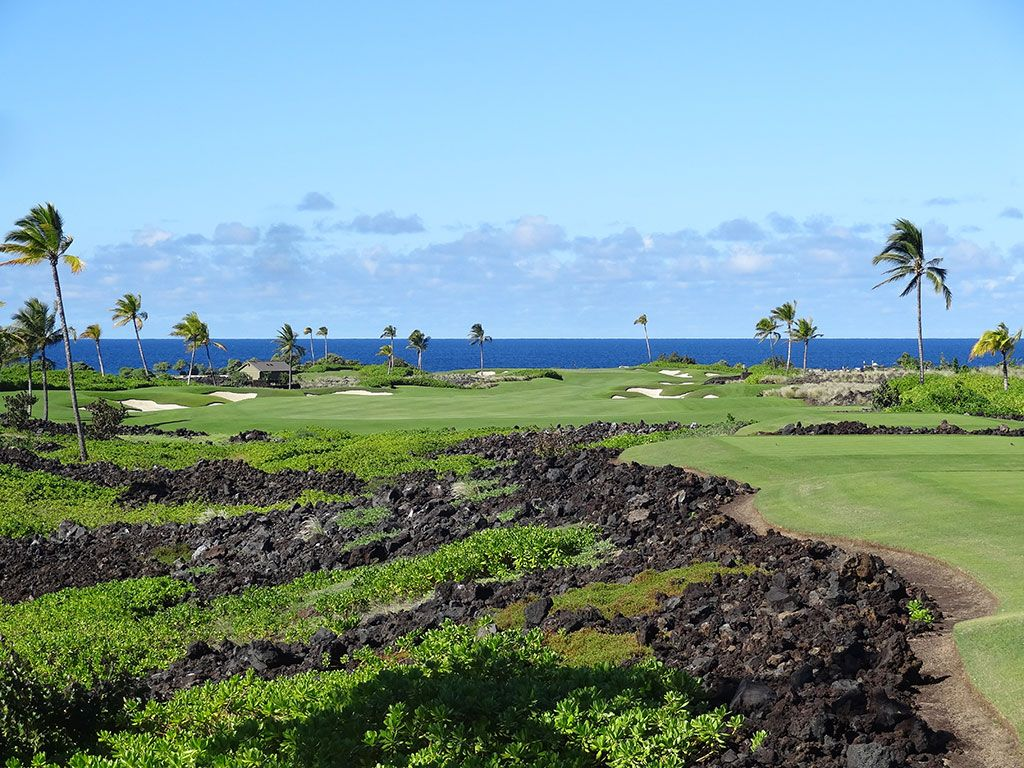 12th Hole at Kohanaiki Golf and Ocean Club (637 Yard Par 5)