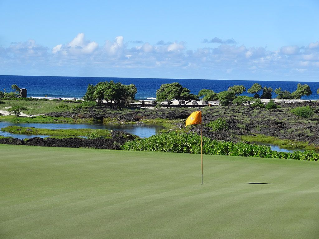 13th Hole at Kohanaiki Golf and Ocean Club (202 Yard Par 3)