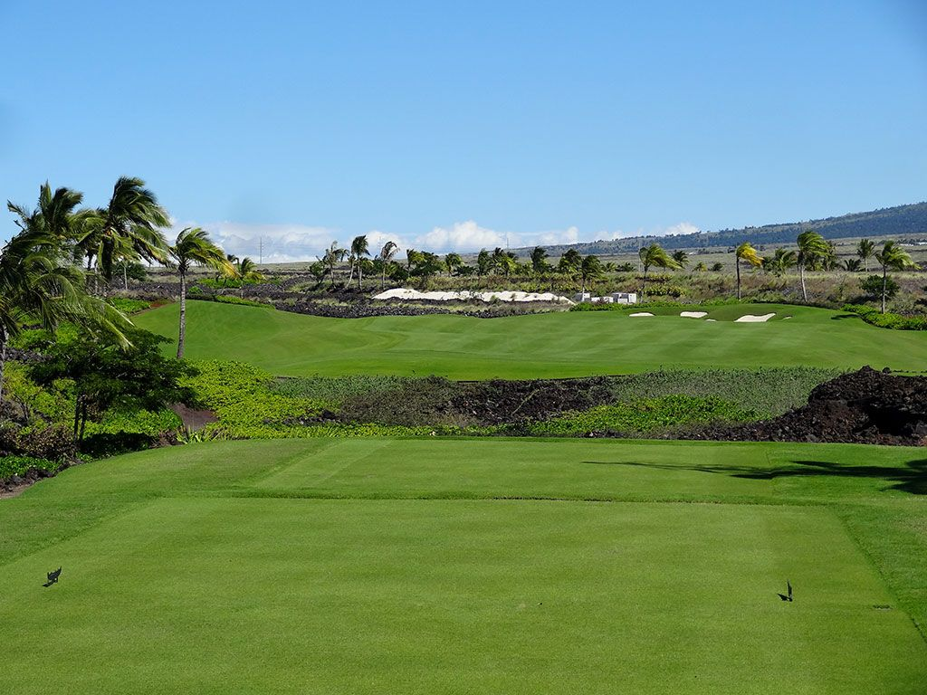 1st Hole at Kohanaiki Golf and Ocean Club (516 Yard Par 5)