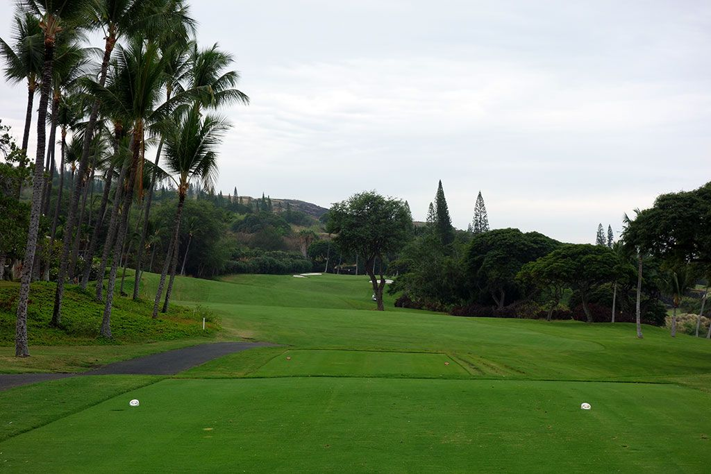 18th Hole at Kona Country Club (455 Yard Par 5)