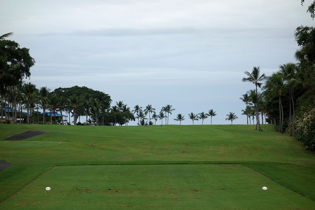 2nd Hole at Kona Country Club (508 Yard Par 5)