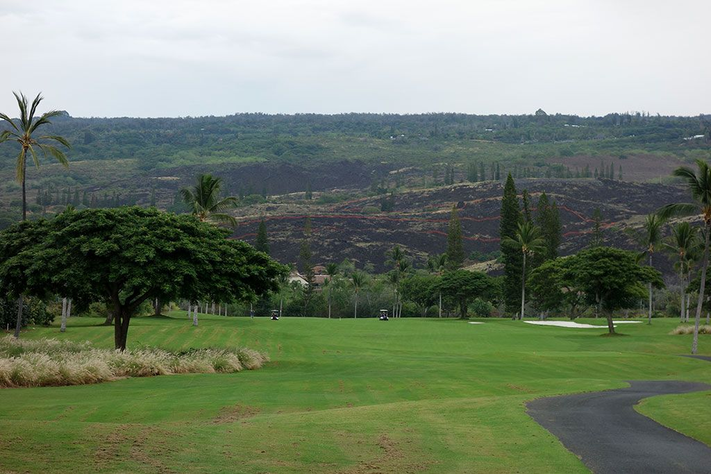 4th Hole at Kona Country Club (442 Yard Par 4)