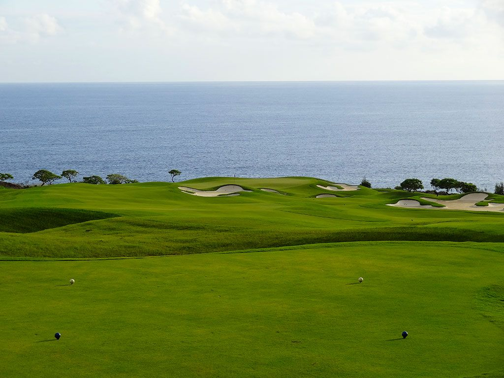 14th Hole at Kukui'ula Golf Club (320 Yard Par 4)