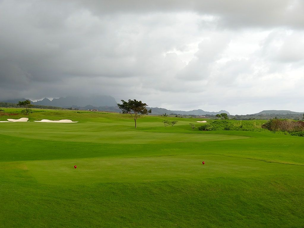 15th Hole at Kukui'ula Golf Club (473 Yard Par 4)