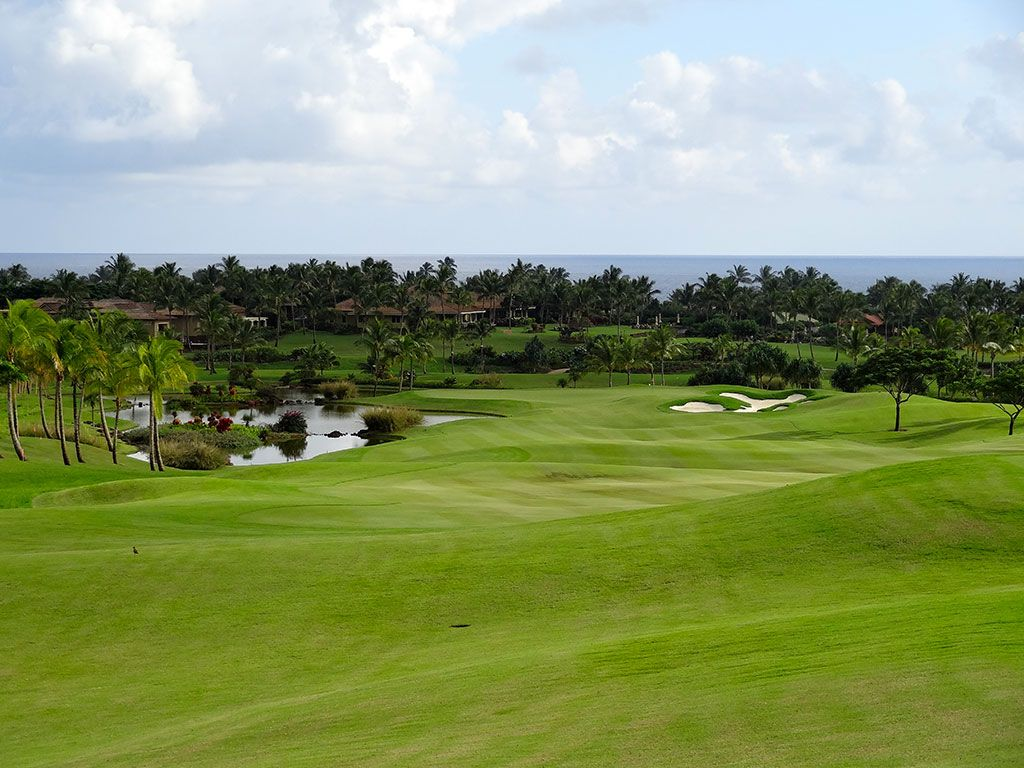 9th Hole at Kukui'ula (450 Yard Par 4)