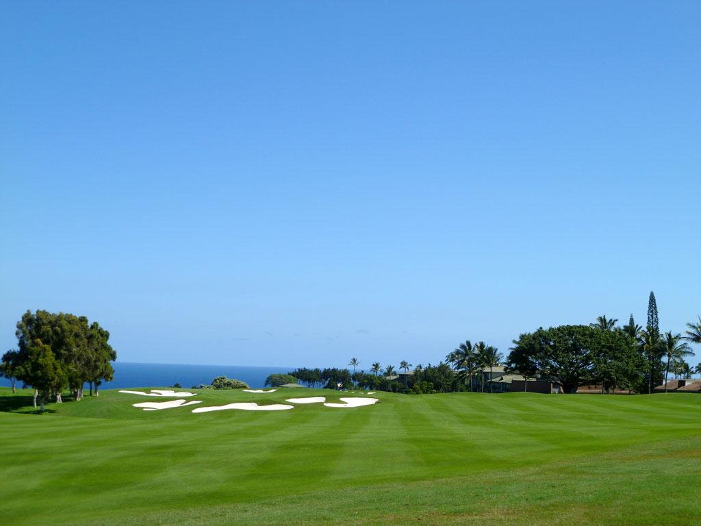 12th Hole at Makai Golf Club at Princeville (450 Yard Par 4)