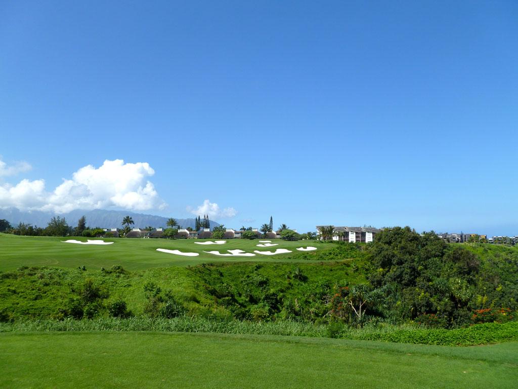14th Hole at Makai Golf Club at Princeville (338 Yard Par 4)