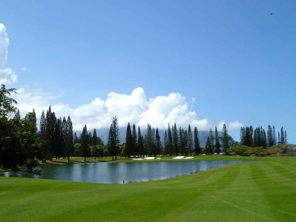18th Hole at Makai Golf Club at Princeville (567 Yard Par 5)