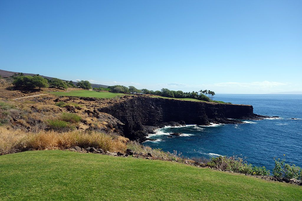17th Hole at Manele Golf Course (444 Yard Par 4)